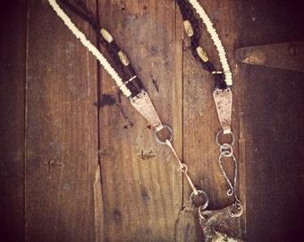 The Buckskin Colt hand made canvas pendant Necklace Equestrian art horse art