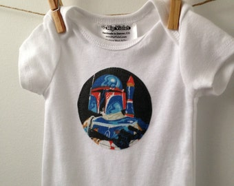 Boba Fett Bodysuit - Star Wars Baby Gift - Vintage Star Wars - Star Wars Baby Shower - Available in Newborn, 3m, 6m, 9m and 12m
