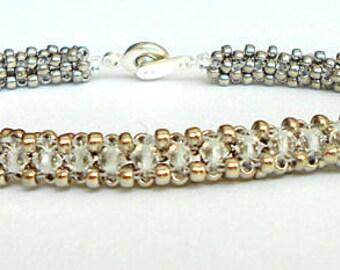 crystal beadwork bracelet