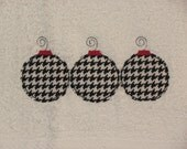 Raggy Houndstooth Christmas Ornament Hand Towel