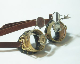 Brass Steampunk Goggles Mad Scientist Jules Verne Neo Victorian Steam Punk