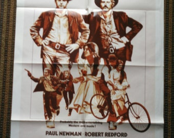 Butch Cassidy and the Sundance Kid-  Original 1974 Movie Poster - One Sheet - Free Shipping