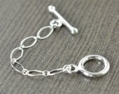 Sterling silver toggle clasp extender necklace extension 2 inch, 3 inch, 4 inch gifts for her