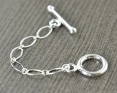 Sterling silver toggle clasp extender necklace extension 2 inch, 3 inch, 4 inch