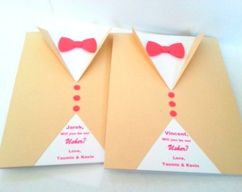 Will you be my Groomsman Card,Best Man,Ring Bearer Card,Usher Card,Tuxedo Card,Will you be my Groomsman Invitation,You be my Groomsman