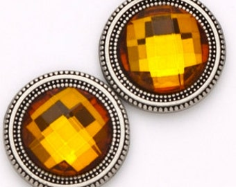 AMBER Crystal Set Sweater pin,  Scarf Pin,  Magnet Button
