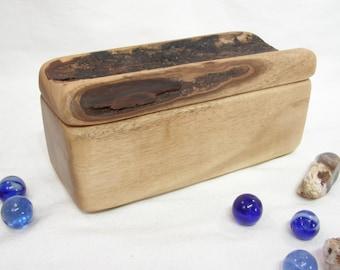 Oregon-Myrtlewood Box, Oregon coast, jewelry box, 5th wedding anniversary, blessing box, small urn, wood art, office desk organizer