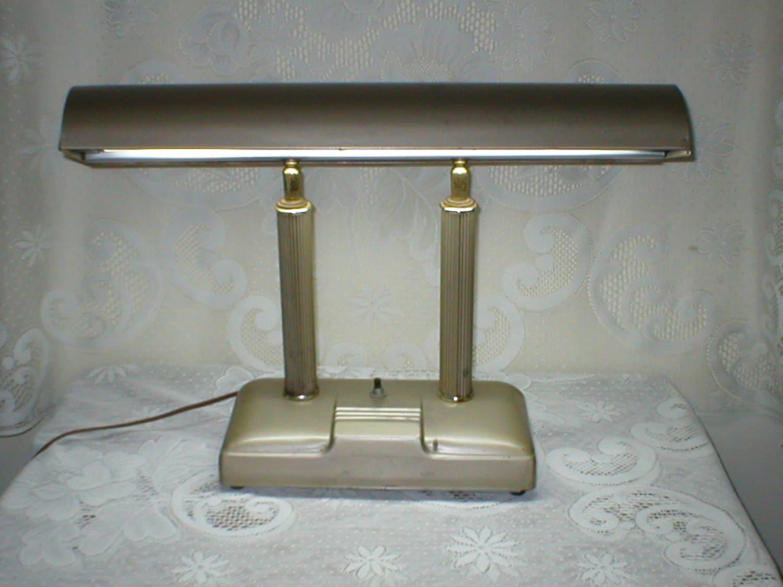 RESERVED FOR KARL Vintage Desk Lamp Metal Fluorescent