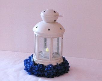 Wedding centerpiece lantern centerpiece hanging lantern white lantern wedding lantern flower decoration wedding silk flower centerpiece