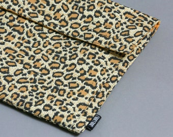 Laptop case, for Macbook 11inch, 13inch, 15inch, and other laptop models. Canvas/Padded/Leopard.