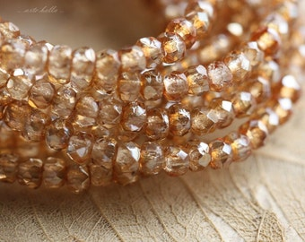 sale .. GLITZY BITS .. 50 Picasso Czech Glass Rondelle Beads 2x3mm (4271-st)