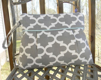 Gray and White Cosmetic Bag Bridesmaids Gifts Choose Your Color for the Lining