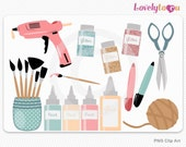 Crafter clipart, sewing and crafting digital PNG clip art set (030)