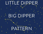 Little Dipper, Big Dipper Star Pattern, Craft & Embroidery DIY pattern