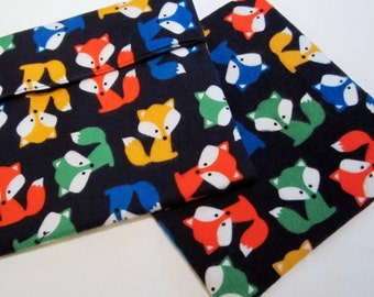 Lined Sandwich Bag--Foxes