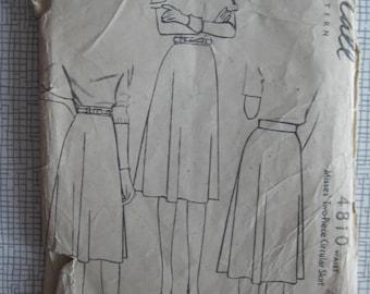 "1940s Skirt - 26"" Waist - McCall 4810 - Vintage Sewing Pattern - WW2 Wartime"