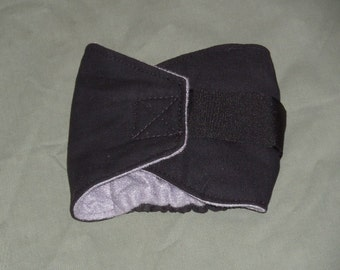 """One 15""""-18"""" Black Male Dog Diaper   Dog Belly Band Belly Wrap   Doggy bellyband   Doggie Diapers"""