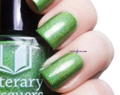 Grasshopper with Cotton Candy Hair - Bright Green Holographic Nail Polish