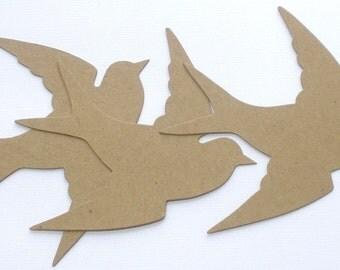 """Songbird - Chipboard Die Cuts - Spring Bird in Flight -   Bare Diecuts - 5"""" inch"""