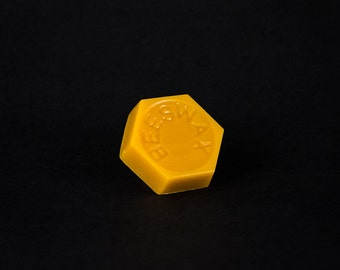 Pure Beeswax - 1.0 ounce hex block