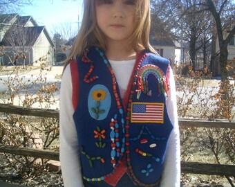 Vintage Campfire Girl Honors Vest