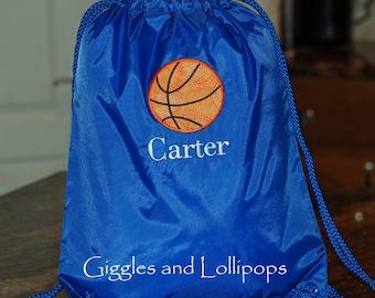 Boys girls personalized sports cinch sak backpack ring bearer flower girl gift