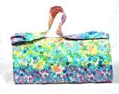 Large Coupon Organizer, Coupon Binder, Coupon Holder, Coupon Purse, Floral Watercolor Fabric