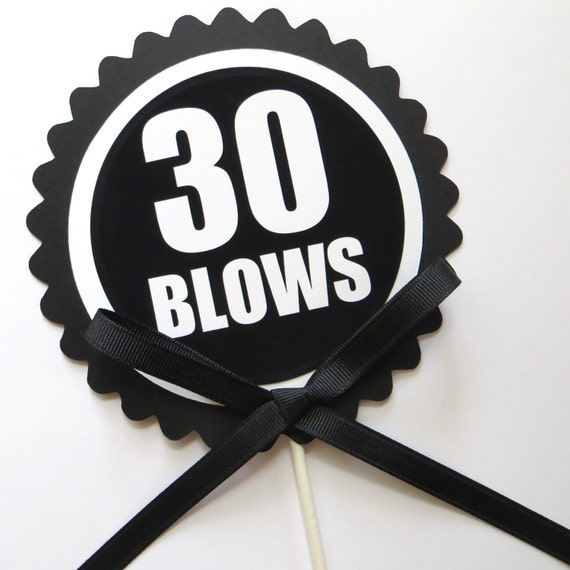 30th birthday cake topper 30 blows cake decoration black for 30 cake decoration