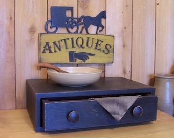 Farmhouse Style Riser Drawer Primitive Kitchen Storage / Bathroom Office Bedroom Storage / Lamp Black / Color Choice