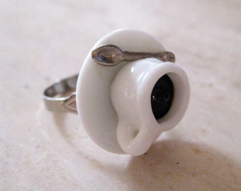 Cup of Coffee Ring - Food Jewelry