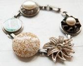 Beach -  bracelet with vintage treasures