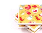 Bird Coasters - Tweet Tweet - Tile Coasters Set of 4 (LAST SET)