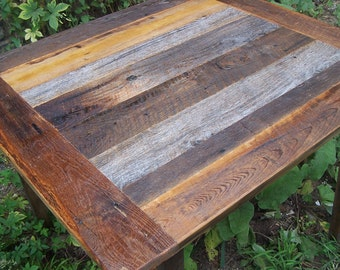 Weathered Gray Barn Wood Kitchen Table