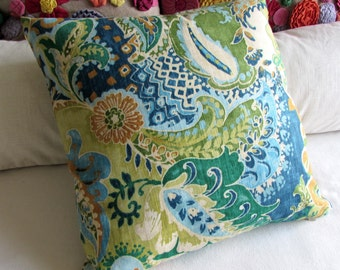 MOROCCO Bohemian blues pillow 18x18 20x20 22x22 insert included