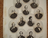 Eminent Opponents of the slave power 1864 j.c. buttre engraving good cond