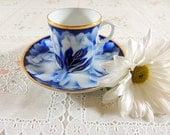 Porcelain Bone China Demitasse Tea Cup By Fukagawa For Danbury Mint