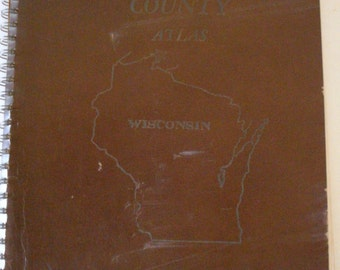 1966 Pictorial Atlas of Grant County WI including Pics, maps, rural directory