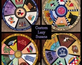 """Custom Lazy Susan designed and hand painted 15"""" or 18"""" or 20"""" or 24"""" or 30"""" lazy susan hand painted nautical"""