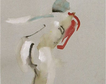 Nude painting of One minute pose 79.3  Original painting by Gretchen Kelly