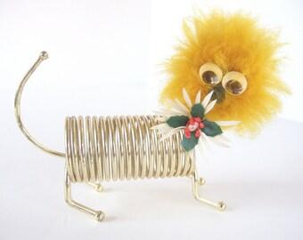 Vintage Letter Holder - Brass Spring Critter