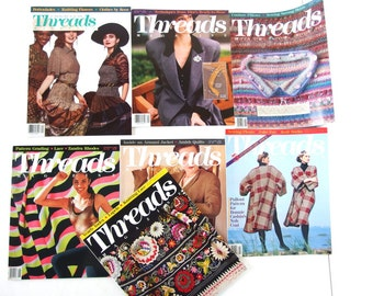 Vintage 1990 Threads Magazine, No. 25 to 32 with Index