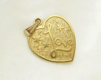 Large Heart Pendant Sixties Love Vintage Jewelry Lamode C6566
