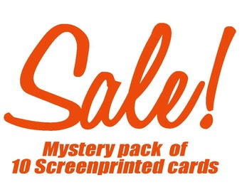 SALE -- Mystery Variety Pack of 10 Screenprinted Cards