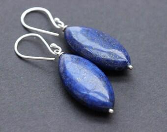 Lapis lazuli earrings- Lapis earrings  - Blue earrings- Gemstone earrings - Gift ideas for her