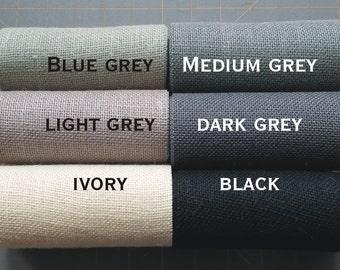 15 inch GREY BLACK or IVORY Burlap  -  3  yards