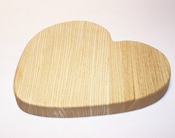 Heart Cutting Board Handcrafted from Ash Hardwood