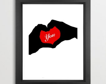 Heart for you - Fine art print , decor , wall art, love you