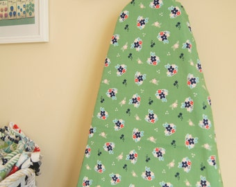Ironing Board Cover - Country Floral in Green - Riley Blake