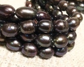 """Rice Baroque Pearl Freshwater Pearl Peacock large oval pearl 10X13mm--16"""" full strand 30 pcs wholesale deal  #DR3039"""
