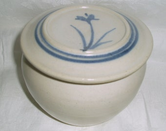 Covered Butter Stoneware Crock, European Style Tabletop Pottery Butter Keeper, French Pottery Butter Tub Container  Dish - The Vermont Shop